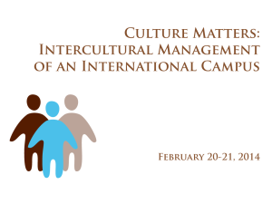 Culture Matters: Intercultural Management of an International Campus