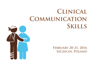 Training: Clinical Communication Skills (CCS)