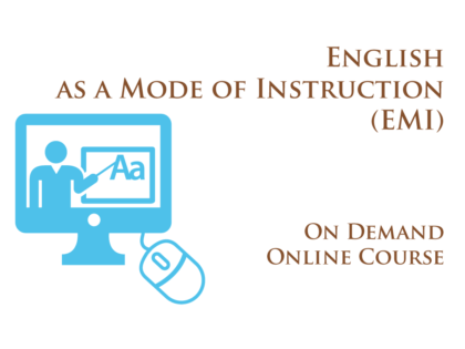 Training: English as a Mode of Instruction (EMI)
