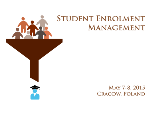 Training: Student Enrolment Management