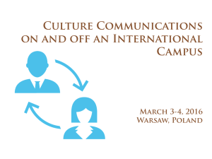 Training: Culture Communications on and off International Campus